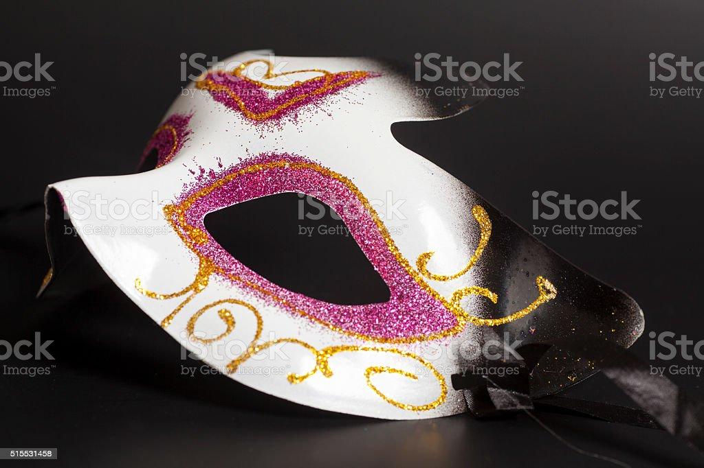 Carnival mask on a black background stock photo