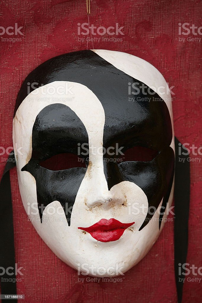 carnival mask: red mouth royalty-free stock photo