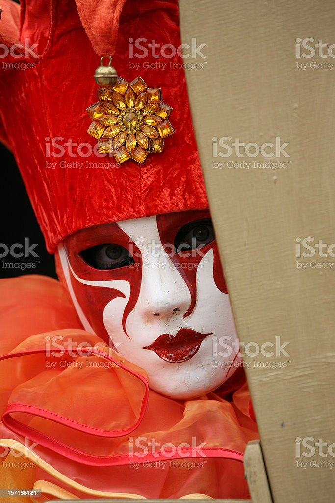 Carnival mask: red mysty royalty-free stock photo