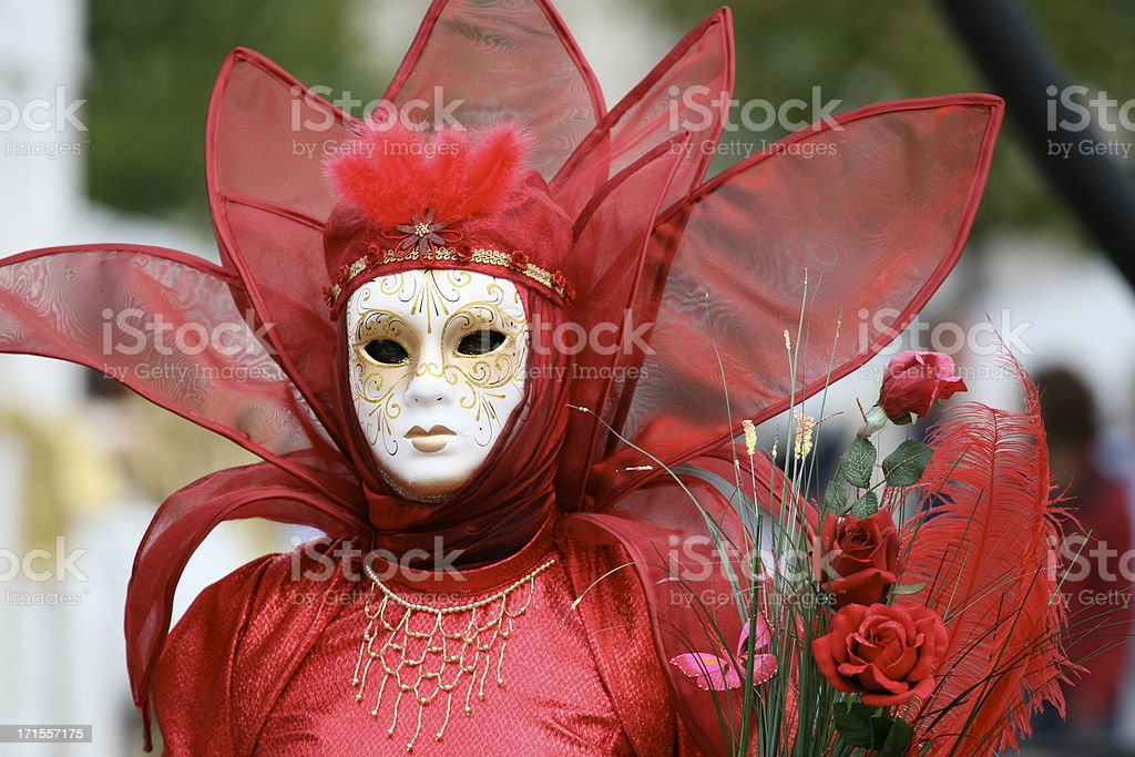 carnival mask: rose royalty-free stock photo