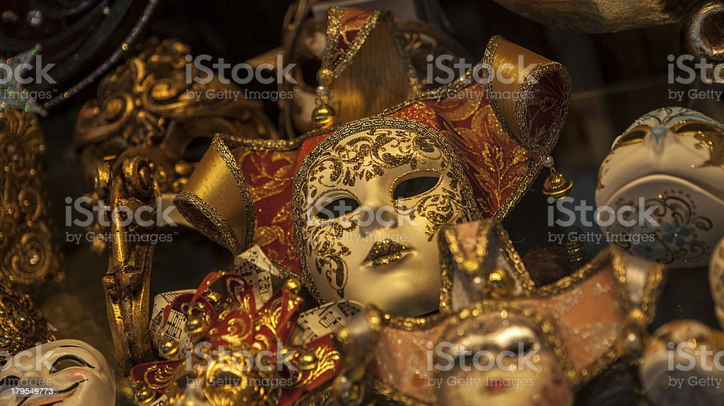 Carnival mask shop Venice Italy royalty-free stock photo