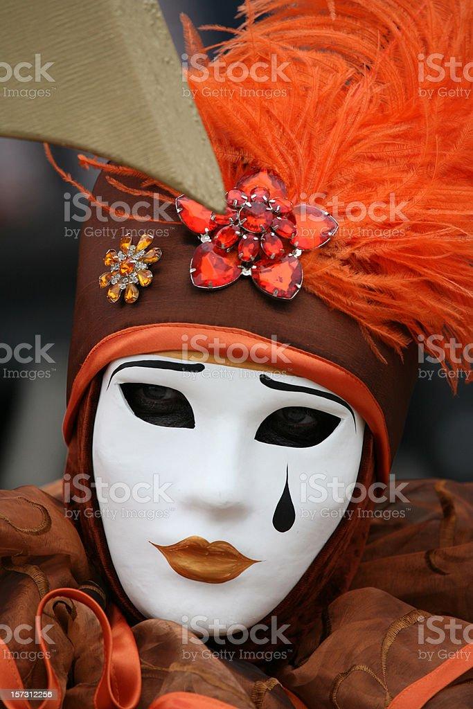 carnival mask: tear royalty-free stock photo
