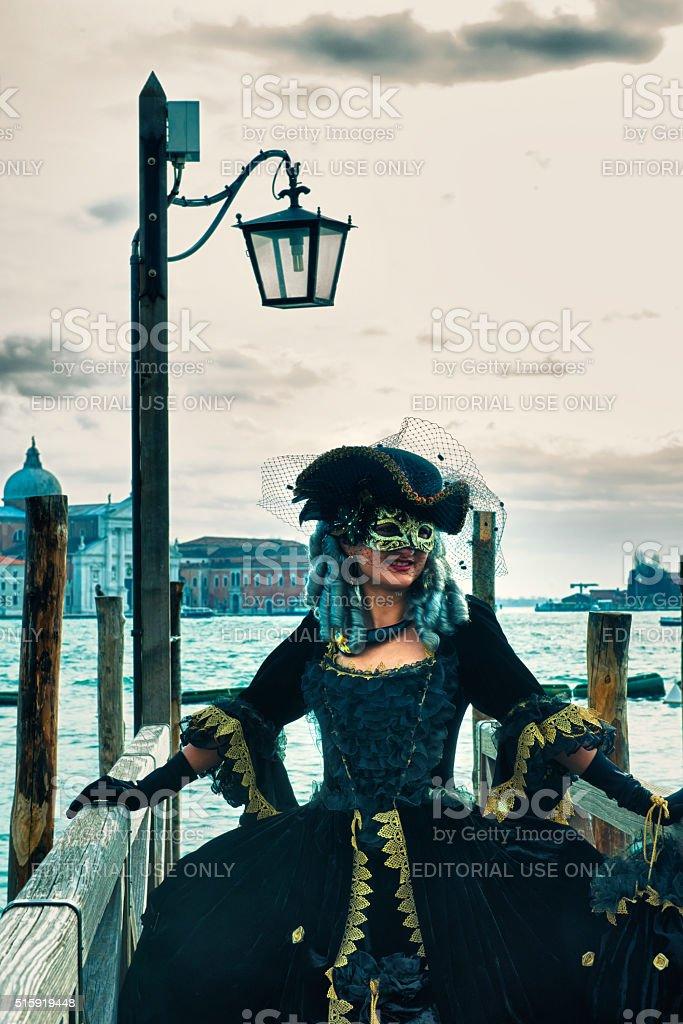 Carnival masks in Venice stock photo
