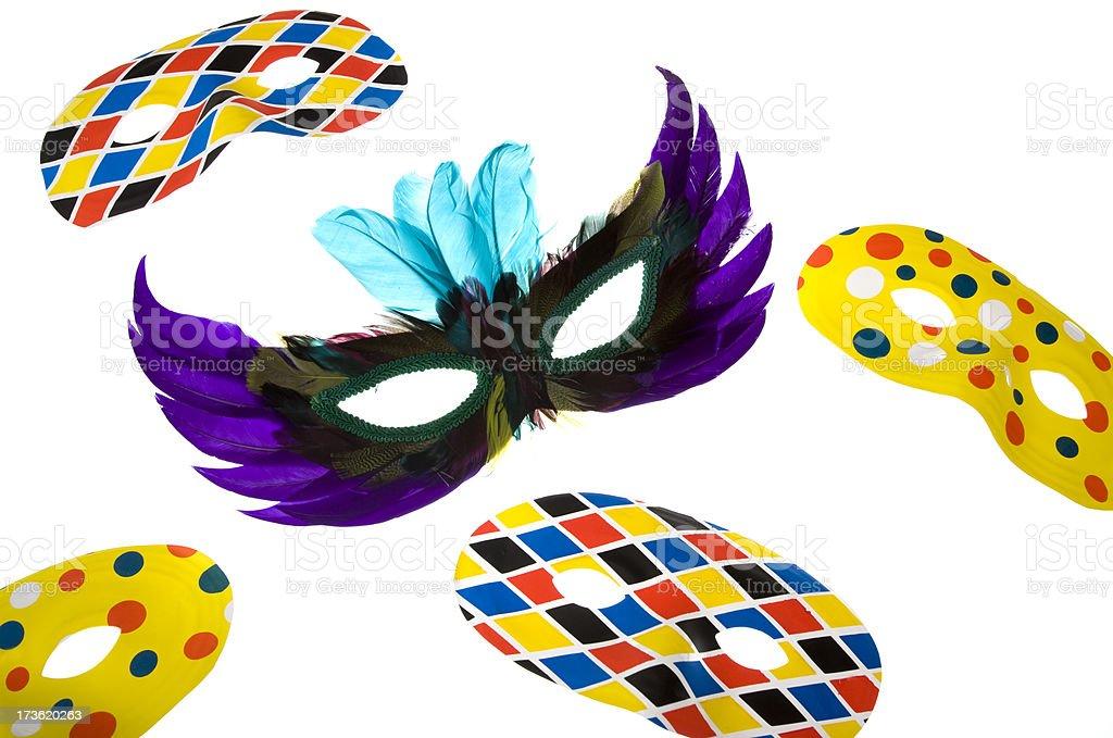 Carnival masks royalty-free stock photo
