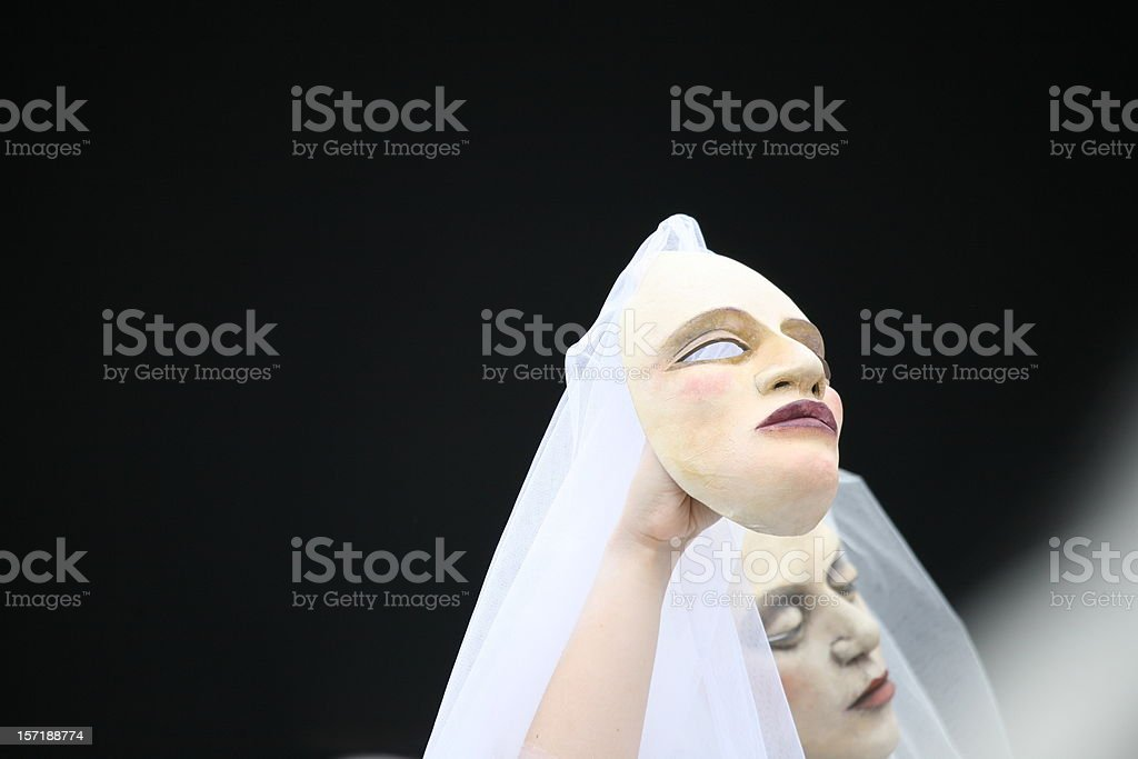 carnival mask:the second me royalty-free stock photo