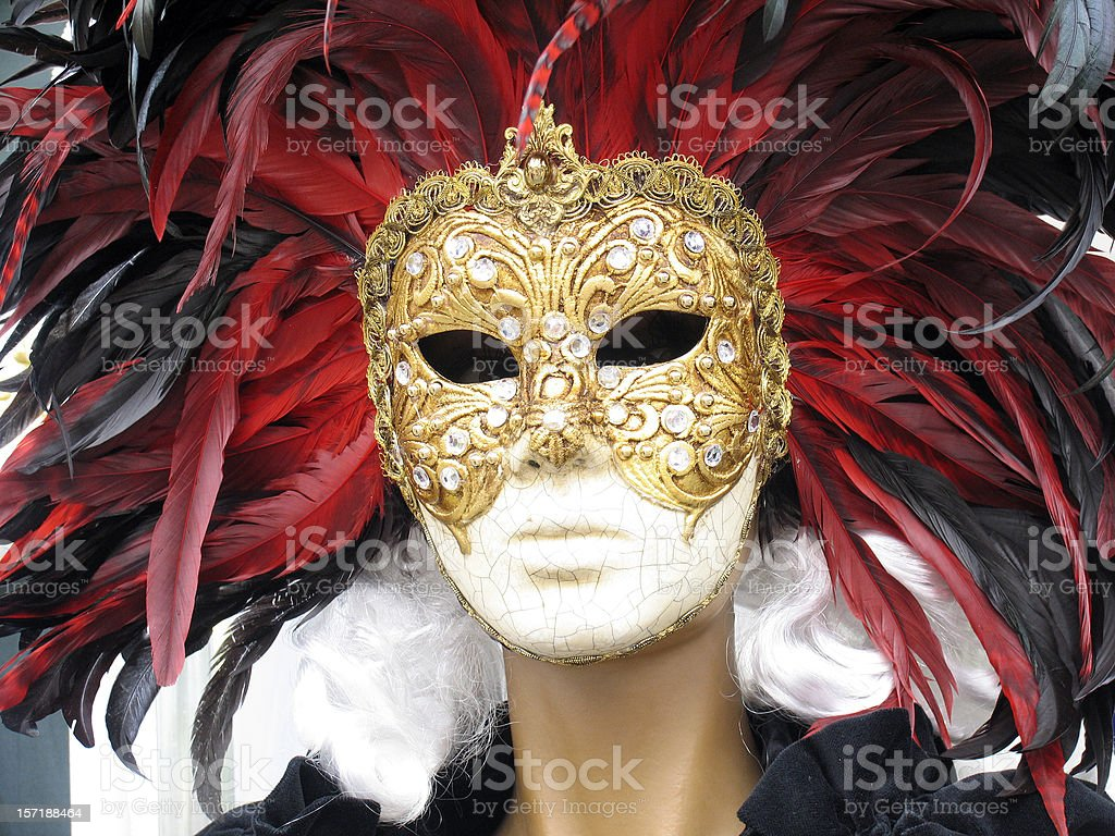 carnival mask:witch royalty-free stock photo