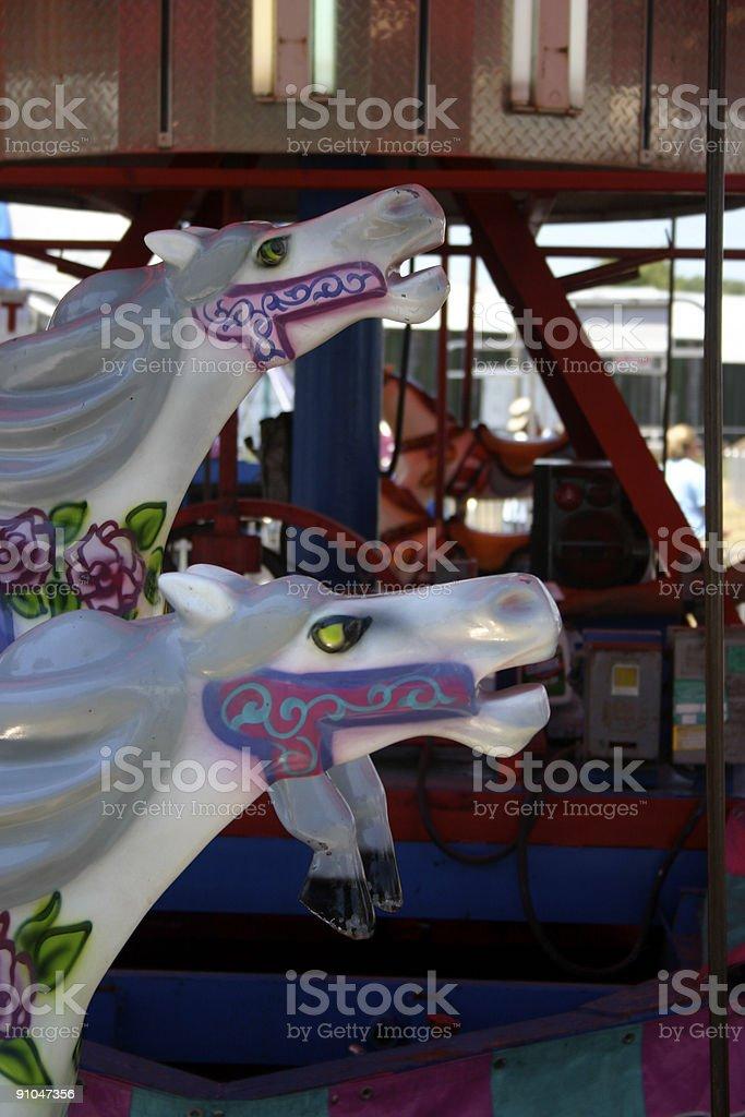 Carnival merry go round stock photo