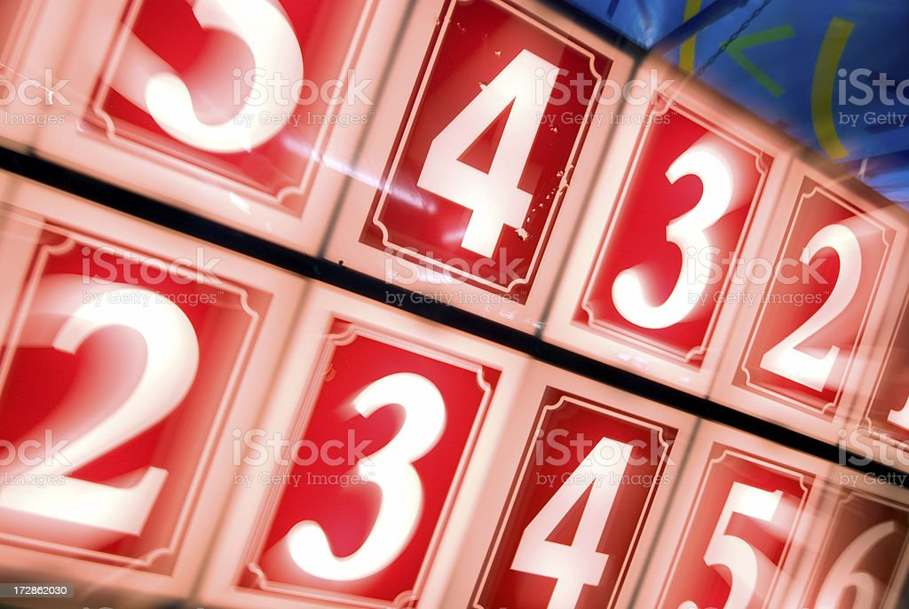 Carnival Numbers royalty-free stock photo