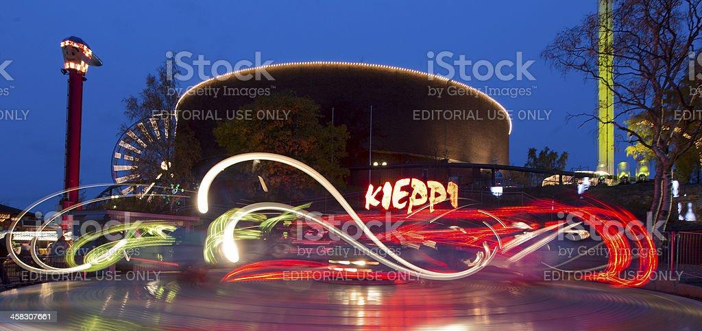 Carnival of Light at Linnanmaki amusement park royalty-free stock photo