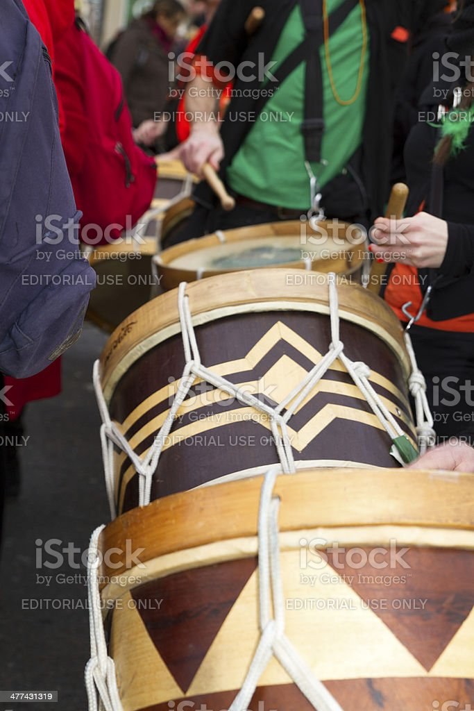 Carnival of Paris, Players of drums royalty-free stock photo