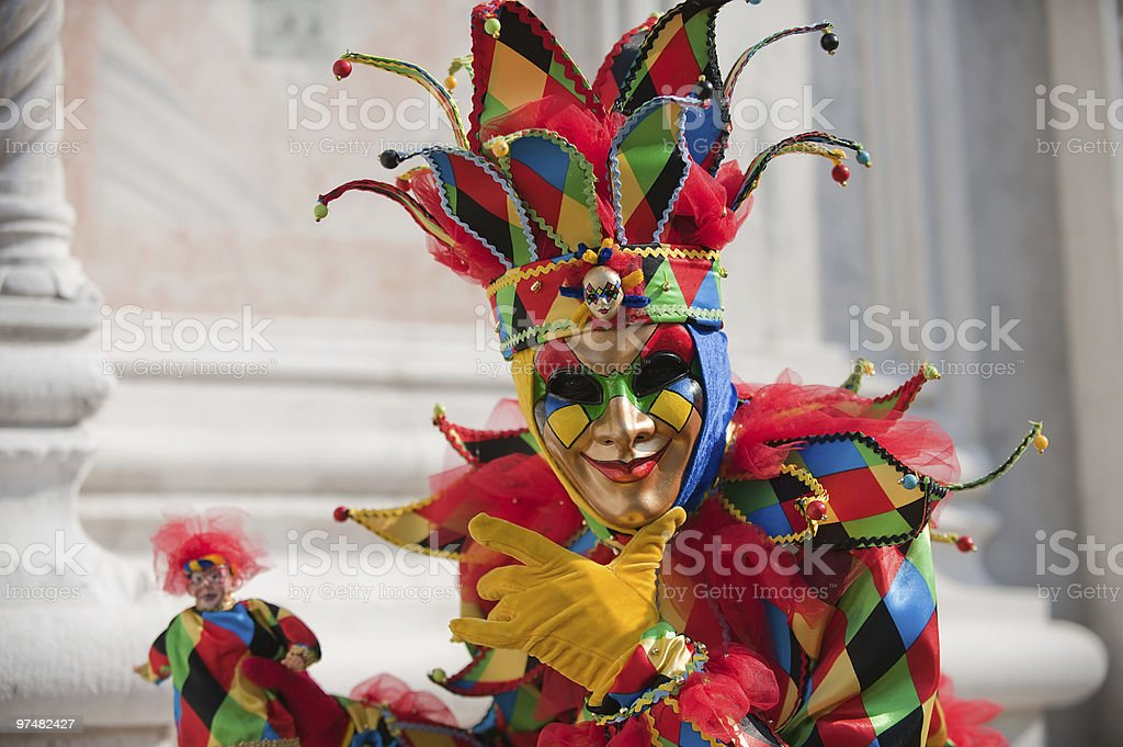 Carnival of the masks stock photo