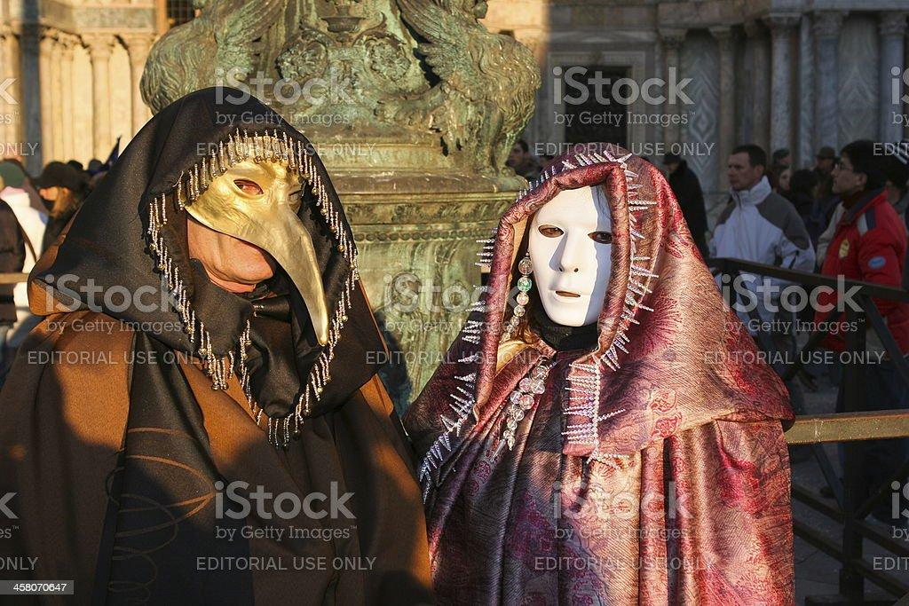 Carnival of Venice..Venetian mask royalty-free stock photo