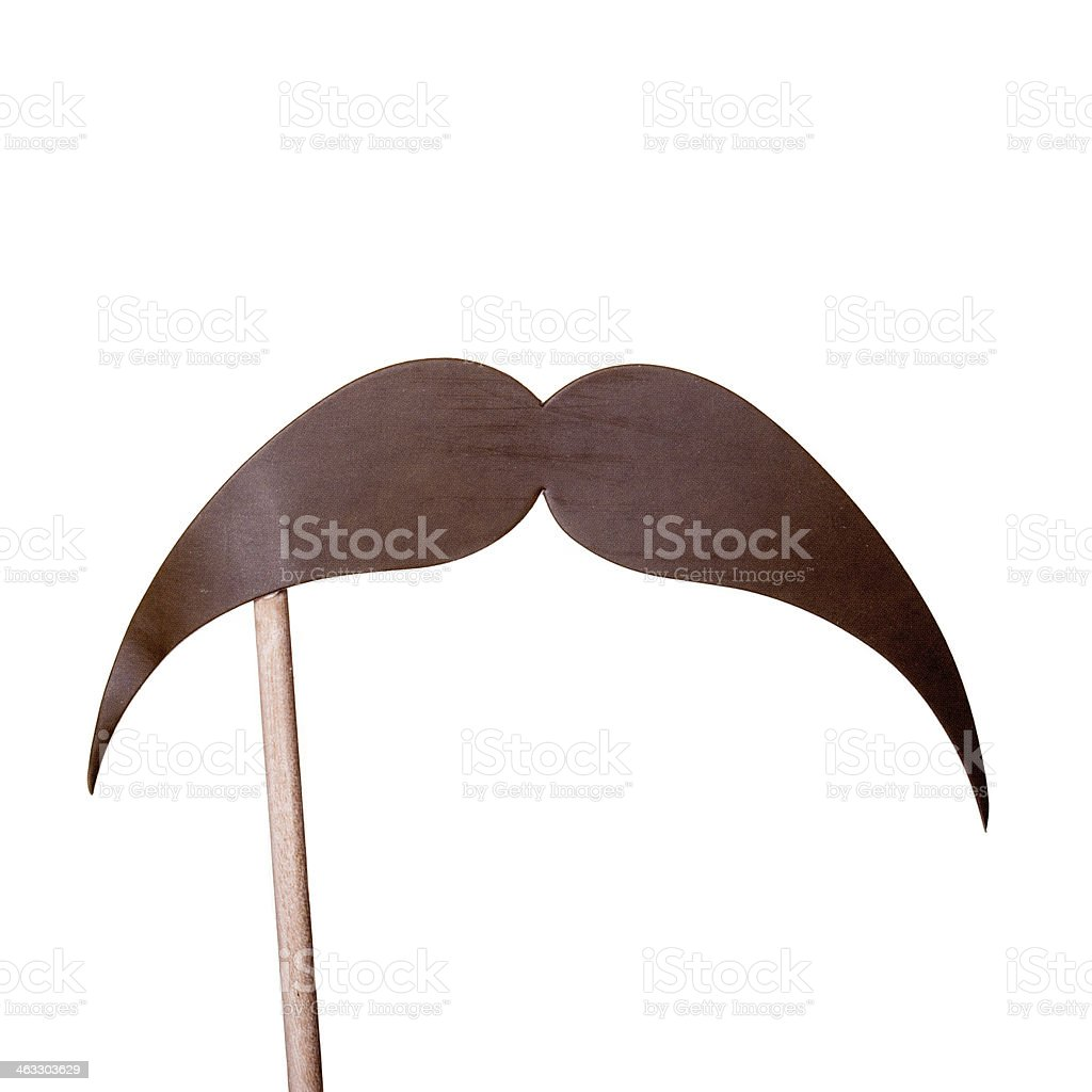 Carnival Paper Brown Moustache stock photo