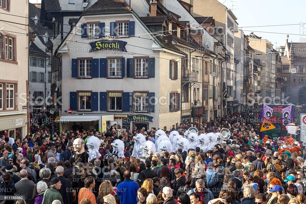 Carnival Parade in Basel, Switzerland stock photo
