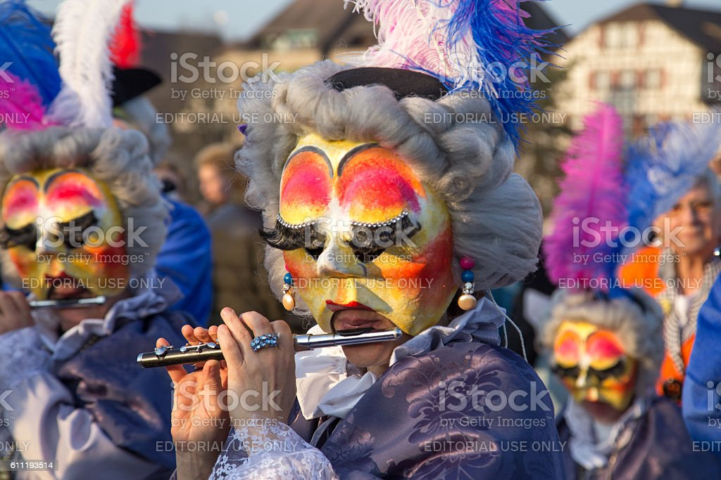 Carnival Parade in Basel, Switzerland stock photo