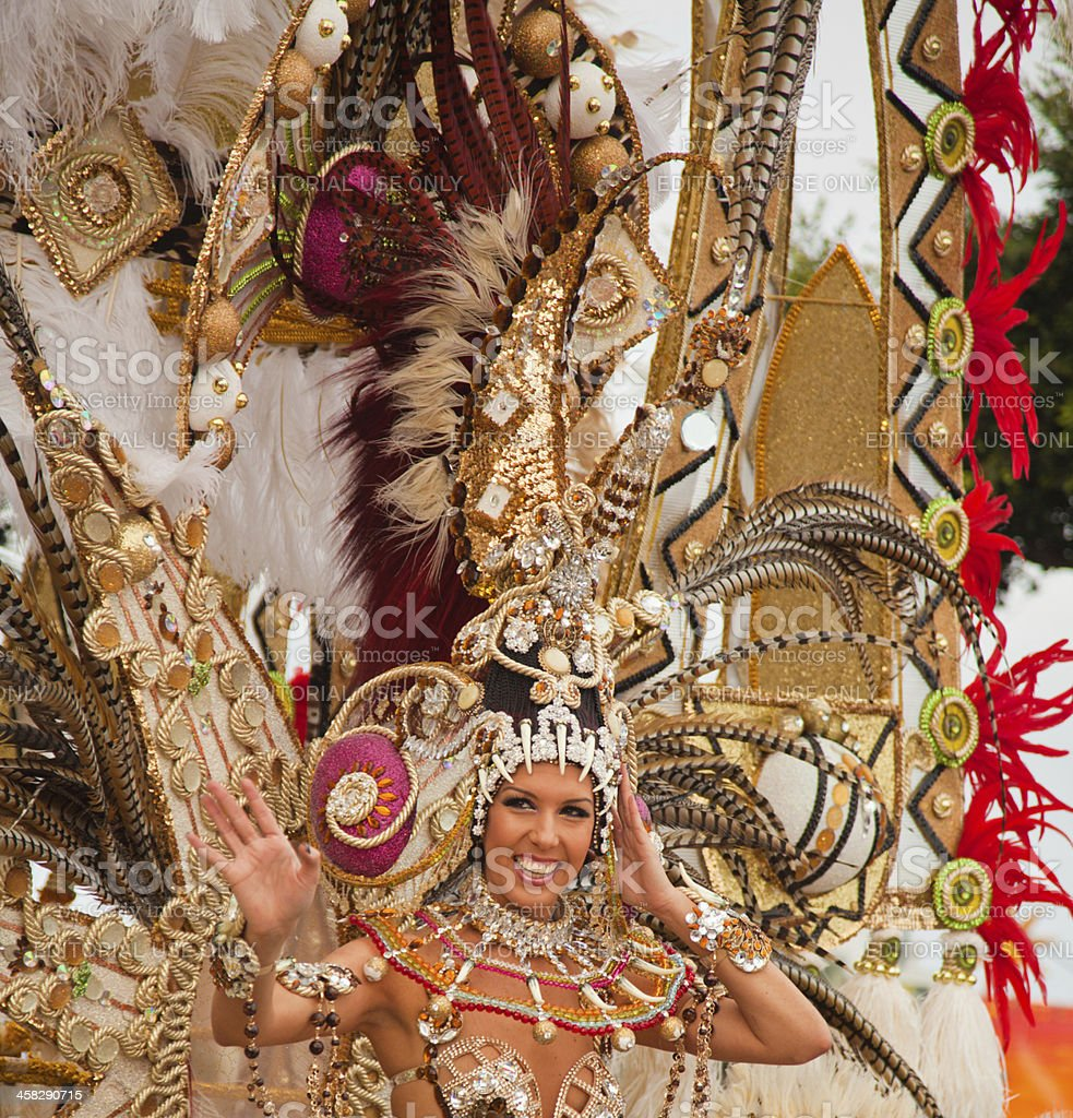 Carnival parade in Santa Cruz de Tenerife stock photo