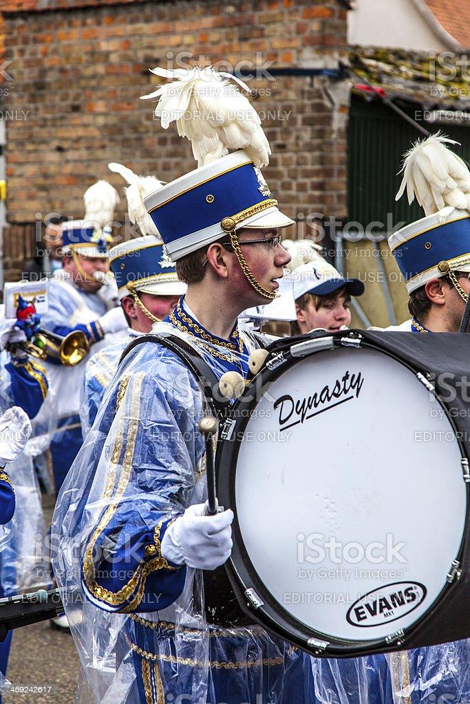 carnival  Parade  moves through the city stock photo