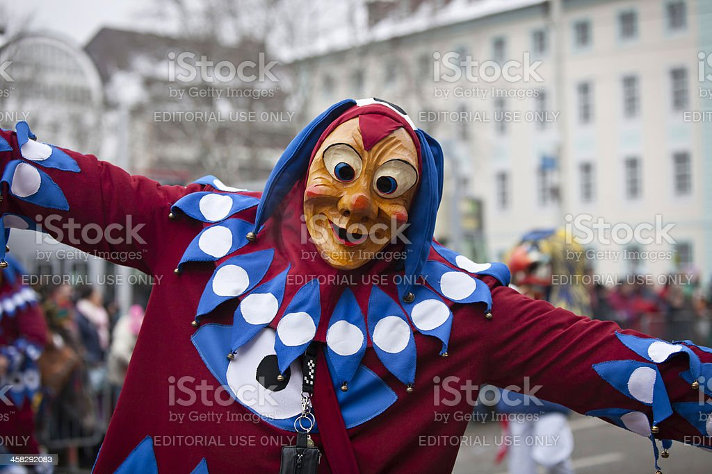 Carnival party in Freiburg, Germany 2013 royalty-free stock photo