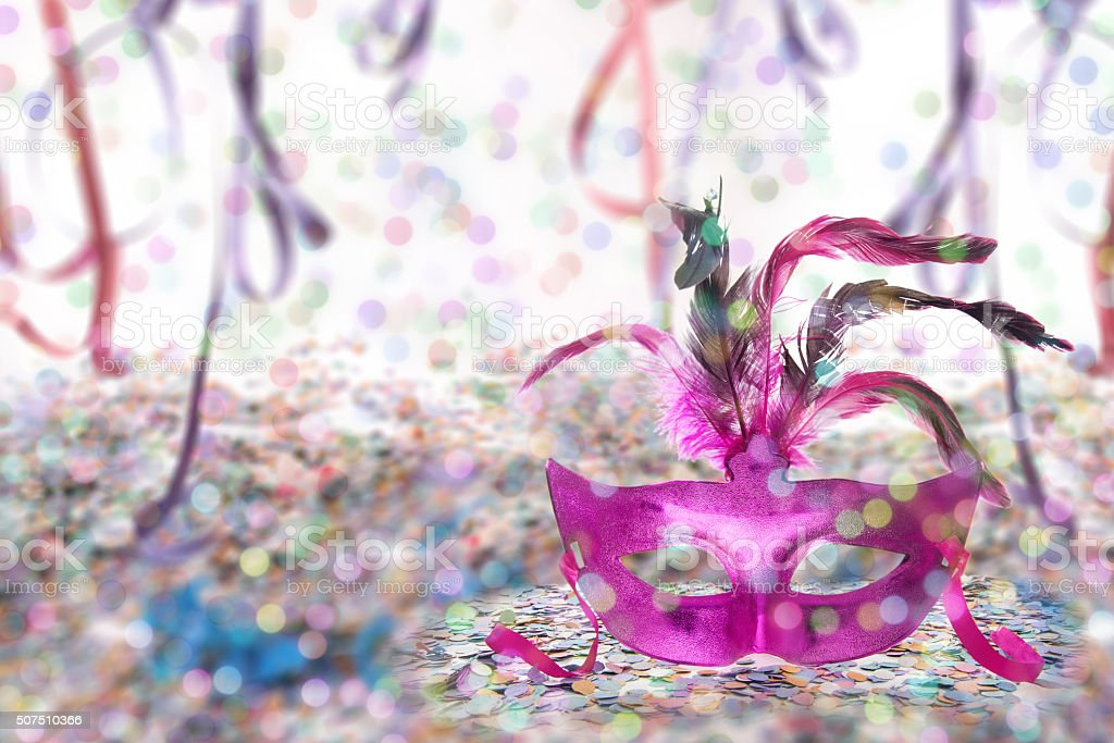 Carnival party time background stock photo