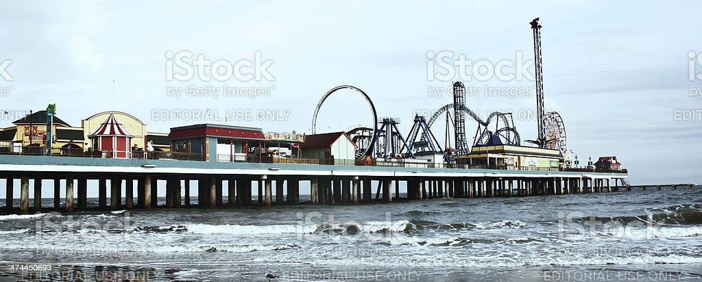 carnival pier stock photo