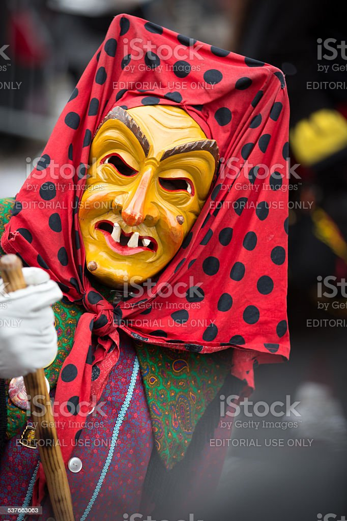 Carnival procession in Durlach (Baden) with traditional masks stock photo