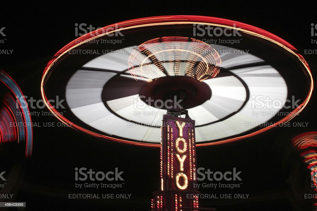 YOYO carnival ride at night royalty-free stock photo