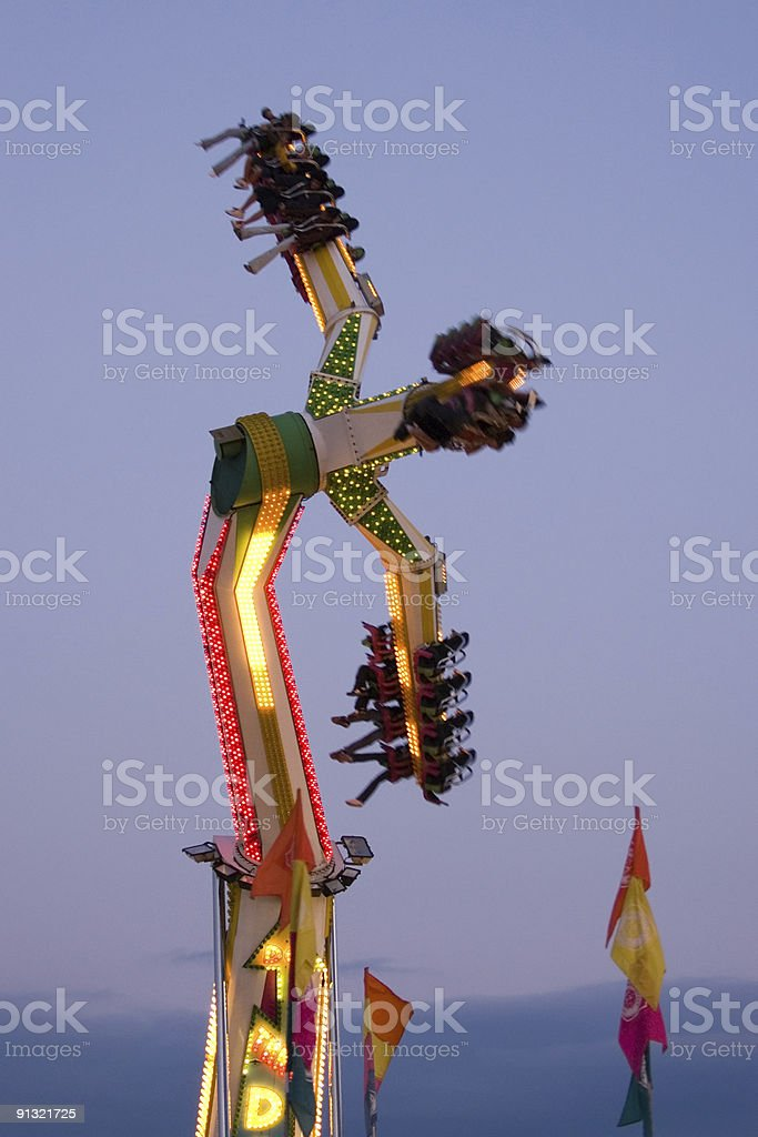 Carnival Ride at Twilight royalty-free stock photo