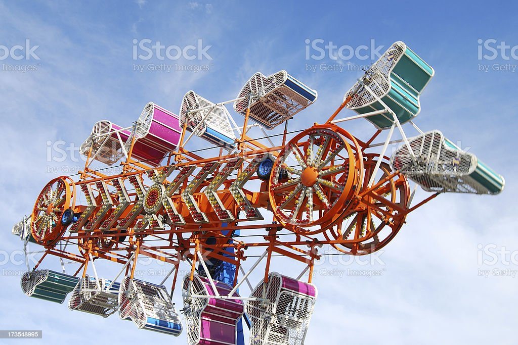 Carnival Ride In Motion royalty-free stock photo