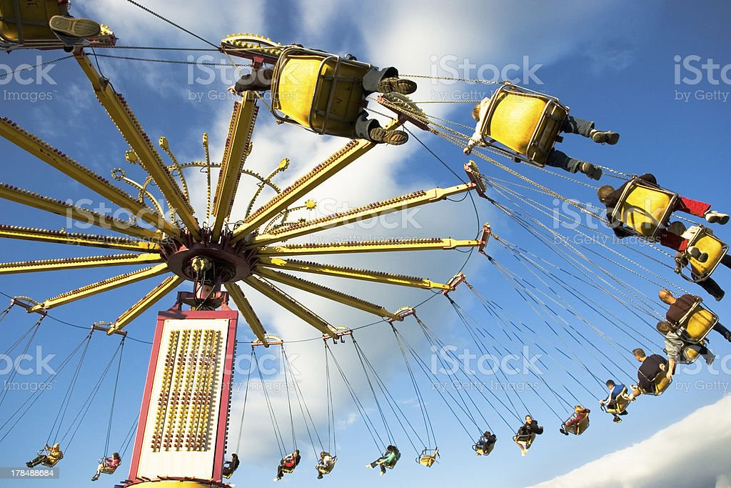 Carnival Ride - Swing Chairs stock photo