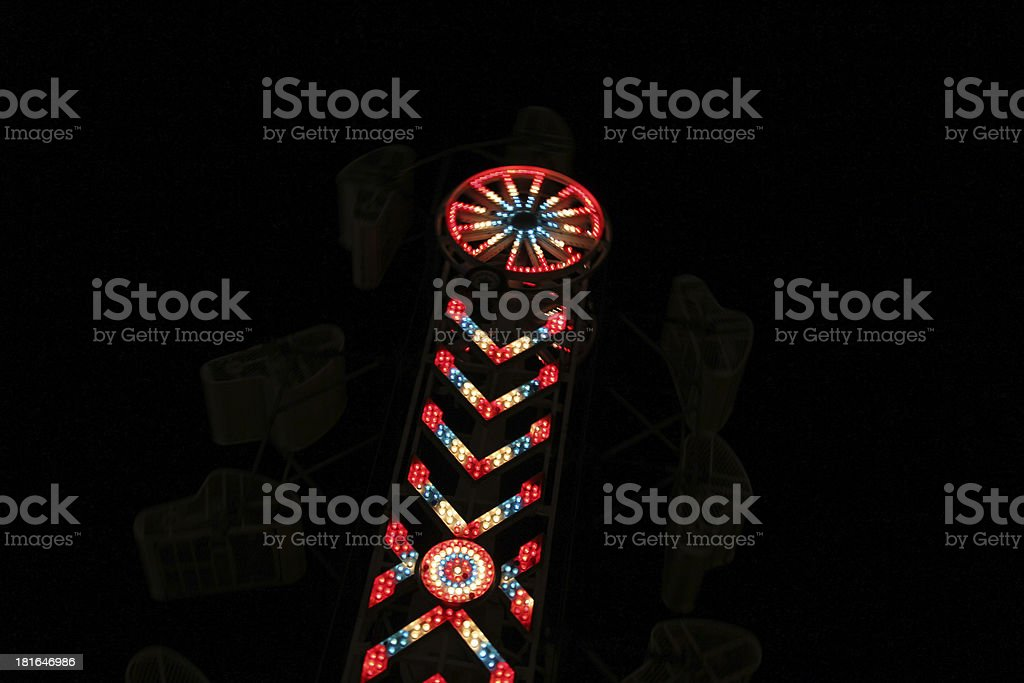 Carnival ride-lights from the hammer royalty-free stock photo