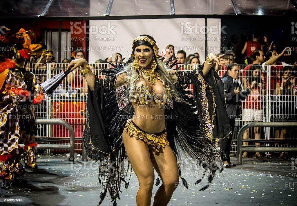 Carnival Samba Dancer Brazil - Ana Paula Minerato stock photo
