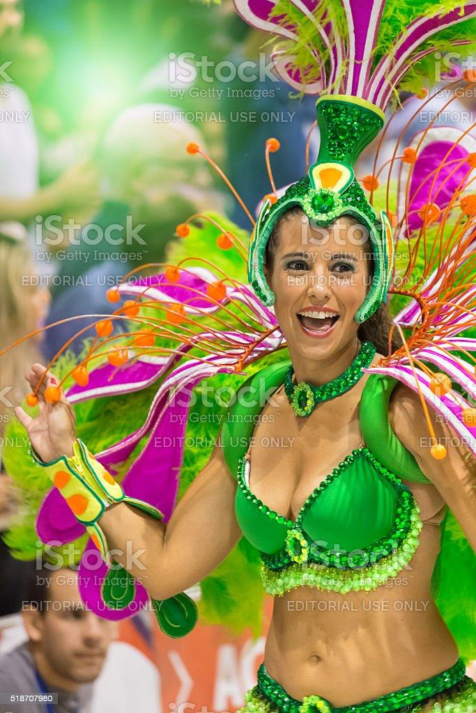 Carnival Samba in Argentina Gualeguaychu stock photo
