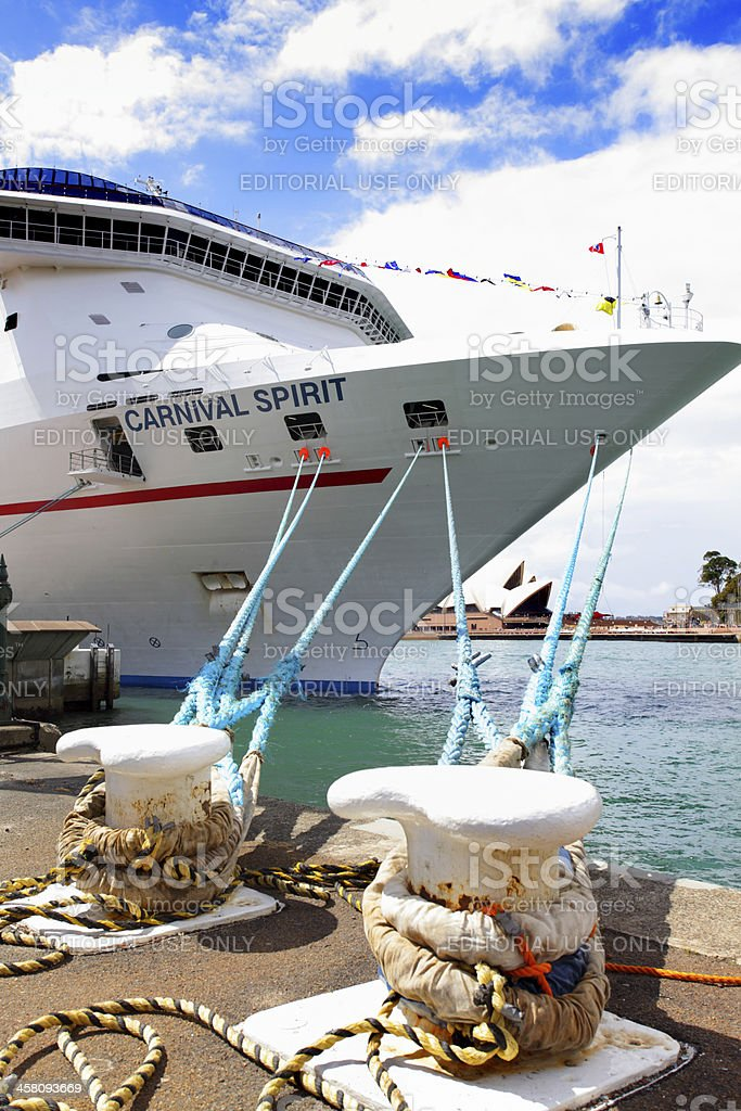 Carnival Spirit Cruise Liner docked at Sydney Harbour royalty-free stock photo