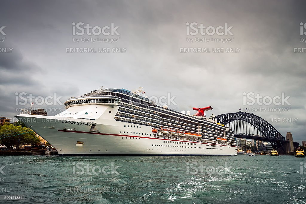 Carnival Spirit cruise ship stock photo