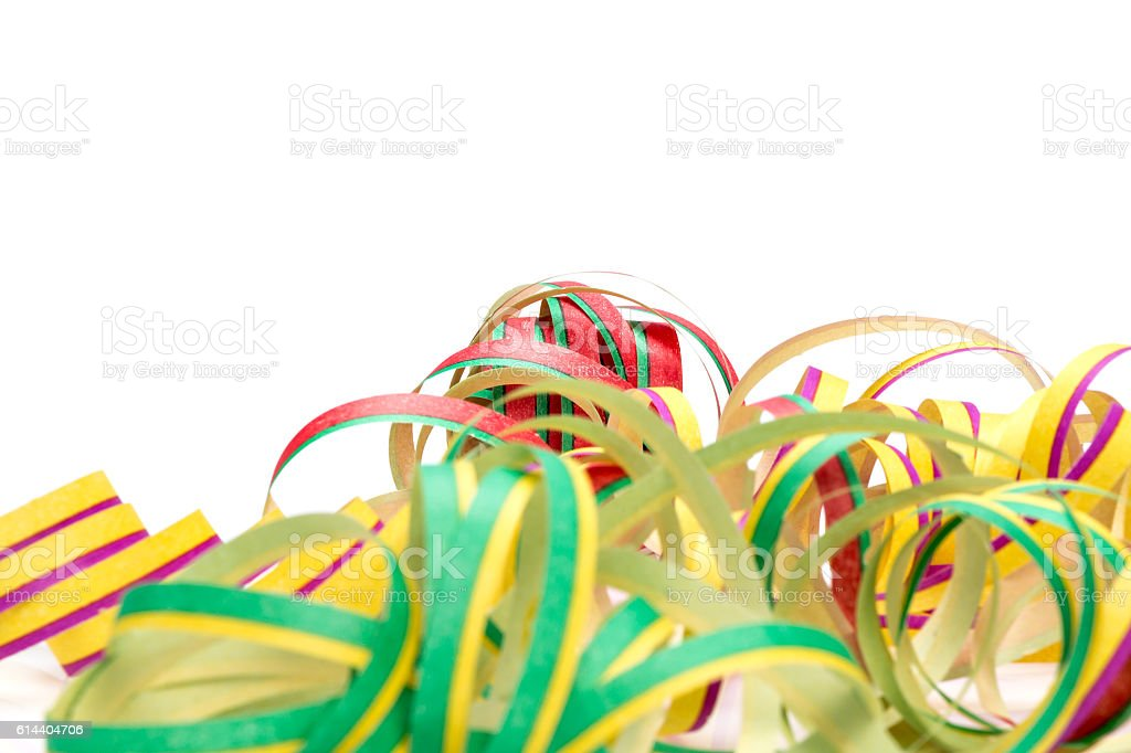 Carnival, streamers, Map stock photo