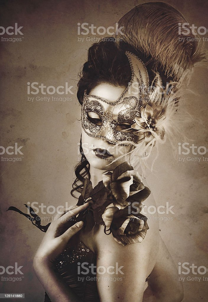 Carnival Style Portrait stock photo
