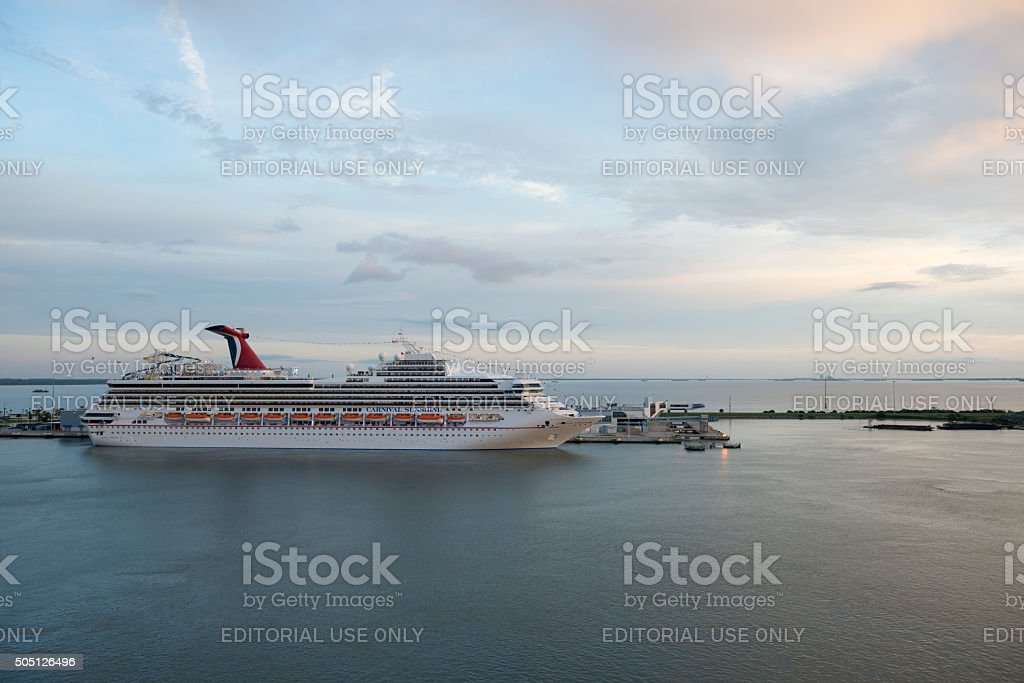 Carnival Sunshine in Port Canaveral stock photo