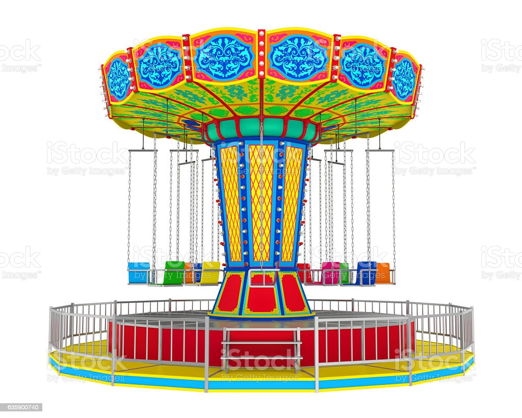 Carnival Swing Ride stock photo