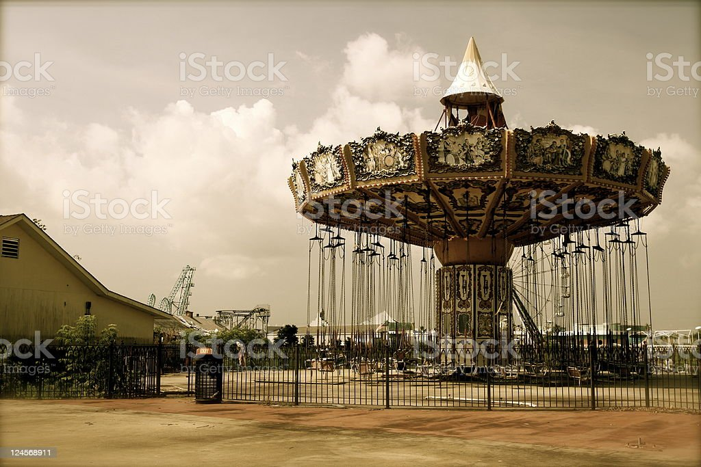 Carnival swings stock photo
