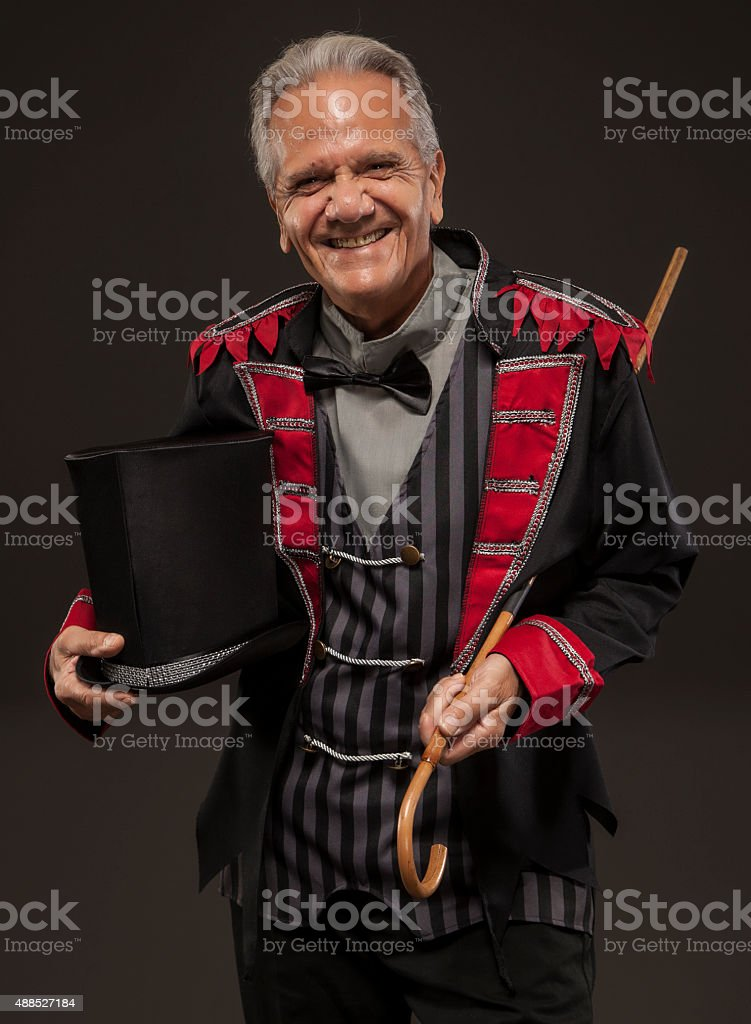 Carnival Ticket Salesman with a smile. stock photo