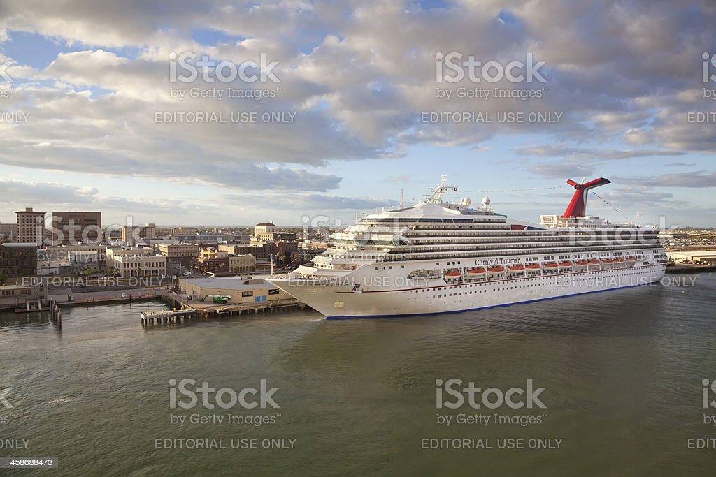 Carnival Triumph Cruise Ship stock photo