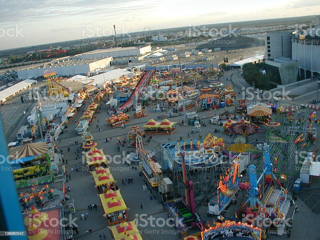 Carnival view from the air royalty-free stock photo