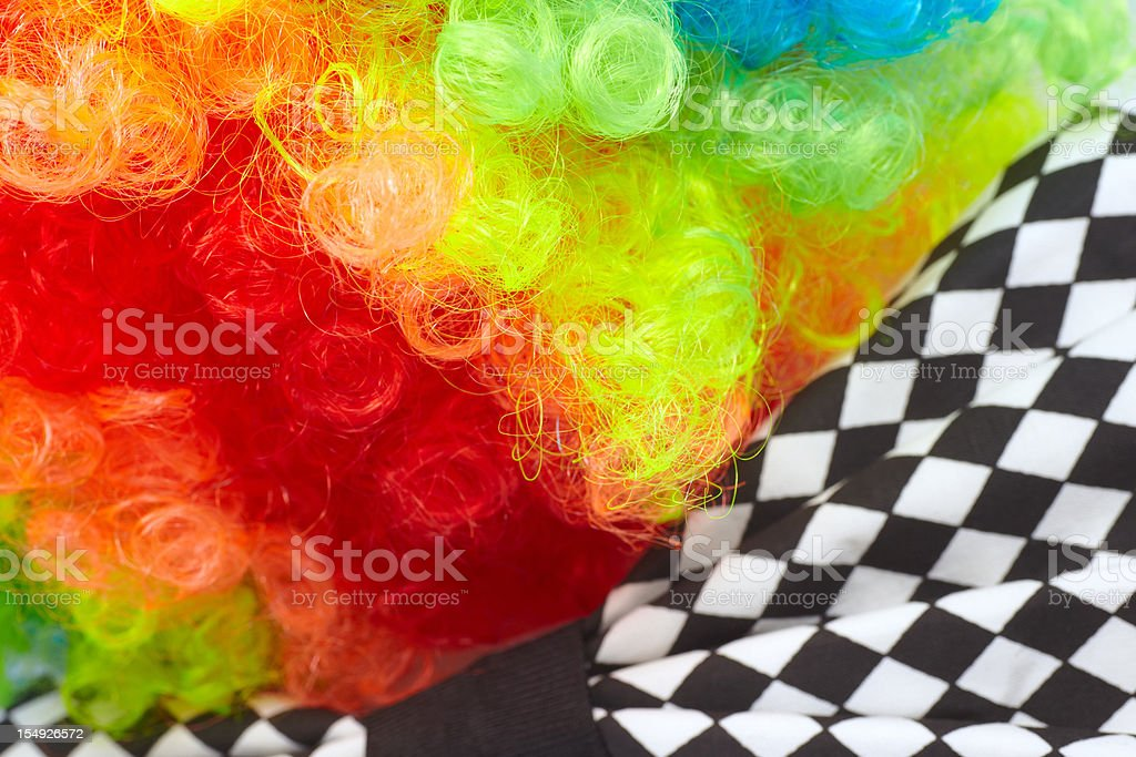 Carnival wig and bow tie royalty-free stock photo