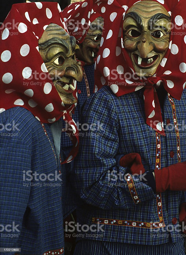 Fasching witches stock photo