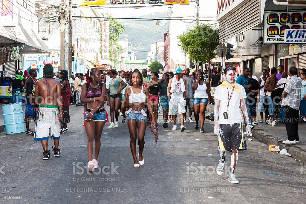 carnival youth street stock photo
