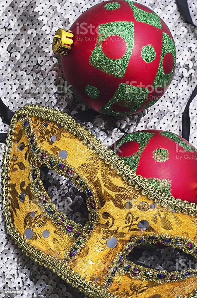 carnival,Christmas mask and decoration royalty-free stock photo