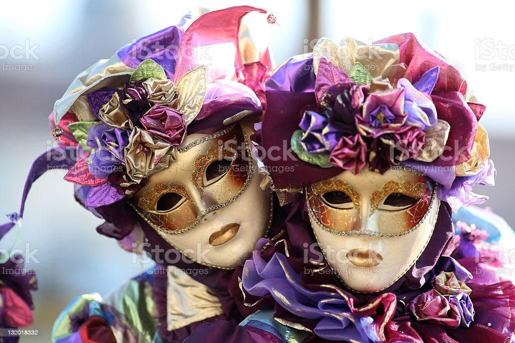 Carnivale couple stock photo