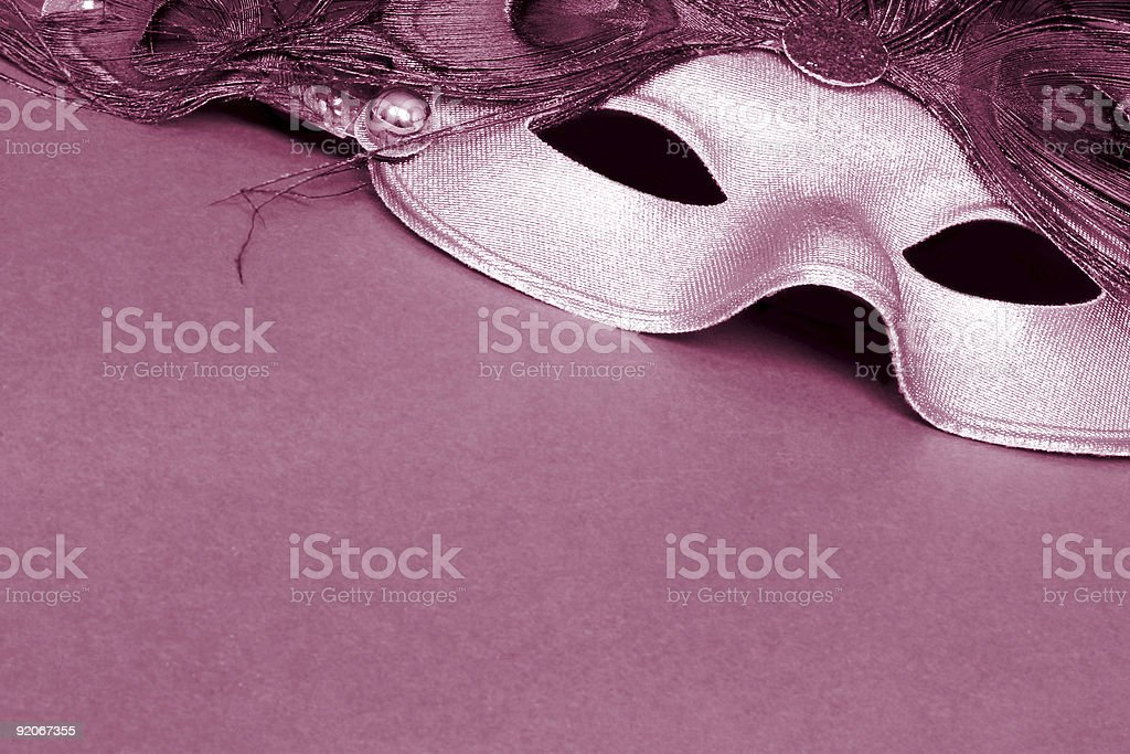 CarnivalMask Sepia royalty-free stock photo