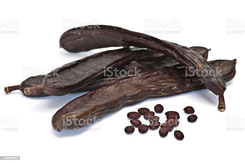 Carob Beans stock photo