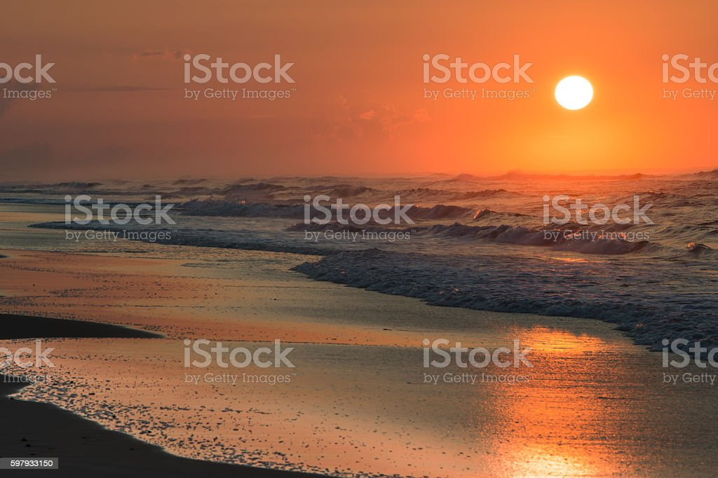 Carolina Coast Sunrise stock photo